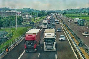 transport chłodniczy - autostrada